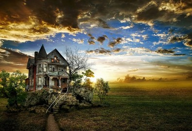 5263HD-Gorgeous-Sky-with-Old-House-Background