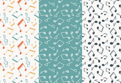 black-white-music-notes-pattern-background-tekstura-fon