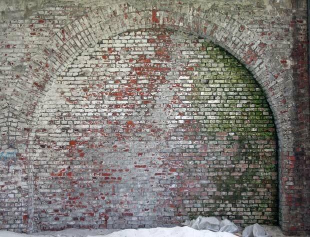 Фоны для презентаций - Грязная кирпичная стена 1