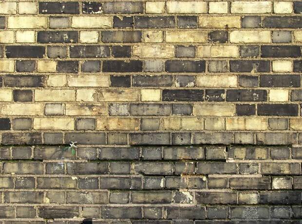 Фоны для презентаций - Грязная кирпичная стена 4
