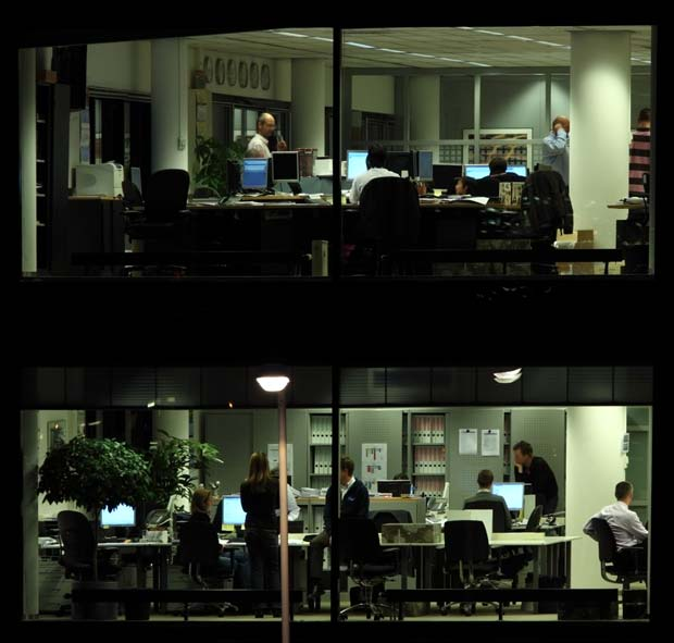 Фоны для презентаций - Ночное здание 2
