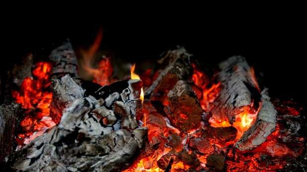 Фоны для презентаций - Огненное пламя 4