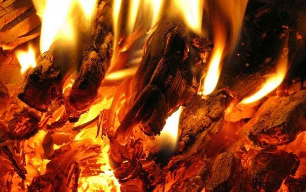 Фоны для презентаций - Огненное пламя 5
