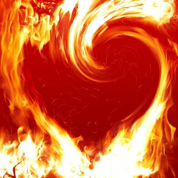 Фоны для презентаций - Огненное пламя 10