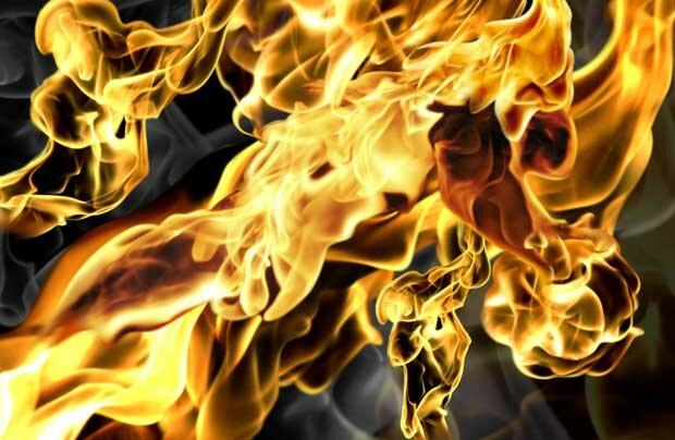 Фоны для презентаций - Огненное пламя 13