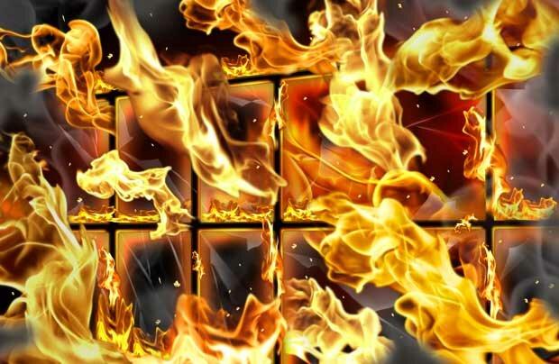 Фоны для презентаций - Огненное пламя 14