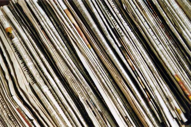 Фоны для презентаций - Старые газеты 4