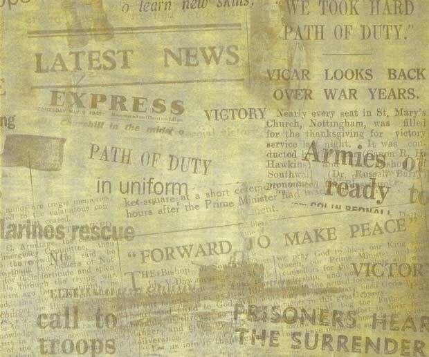 Фоны для презентаций - Старые газеты 10