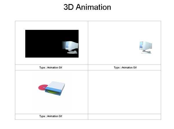 анимированные объекты 3d