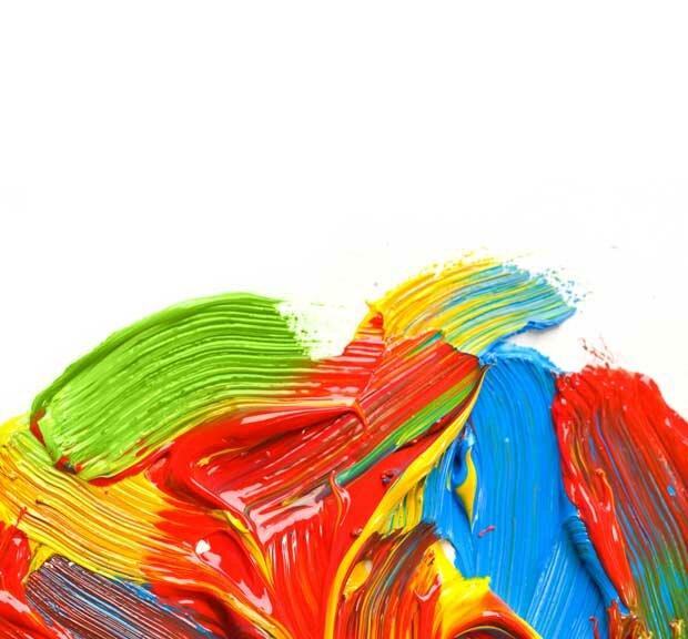 Разноцветный акрил