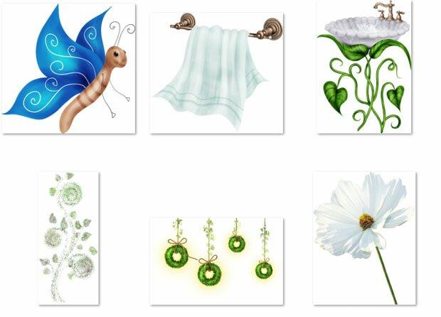 Полотенце и цветок