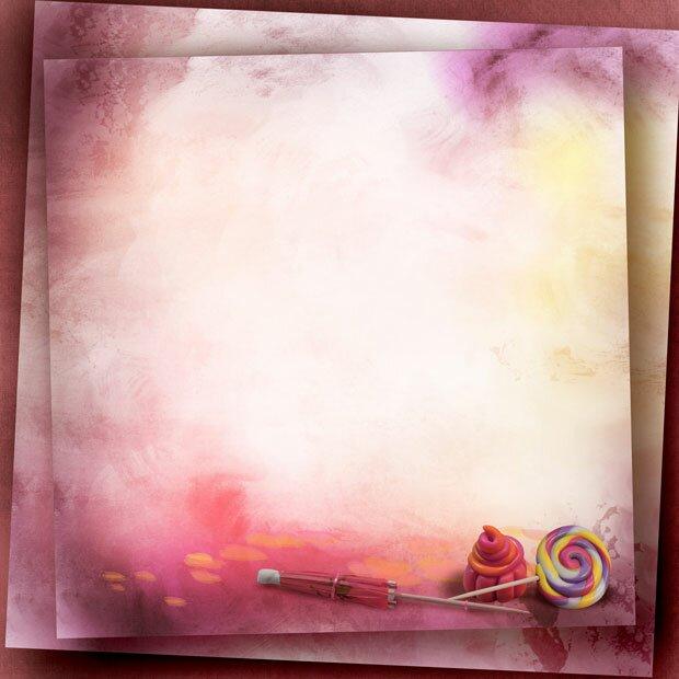Розовая абстракция и сладости