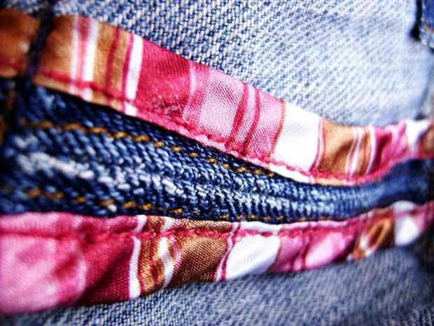 Джинсы и ткань