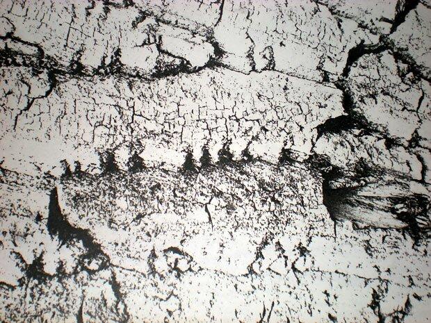 Черно-белая каменная абстракция