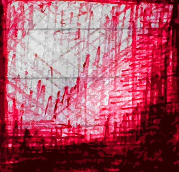 Зарисовка красным