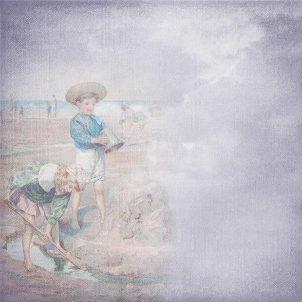 Дети на песочном пляже