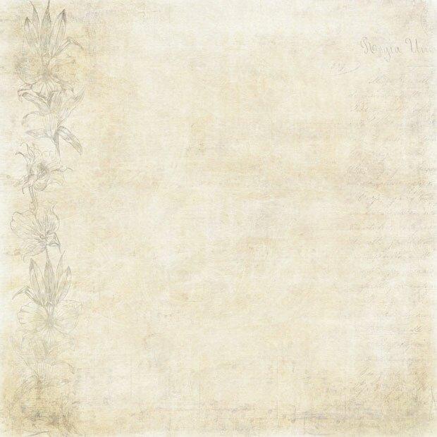 Старинная бумага с цветами