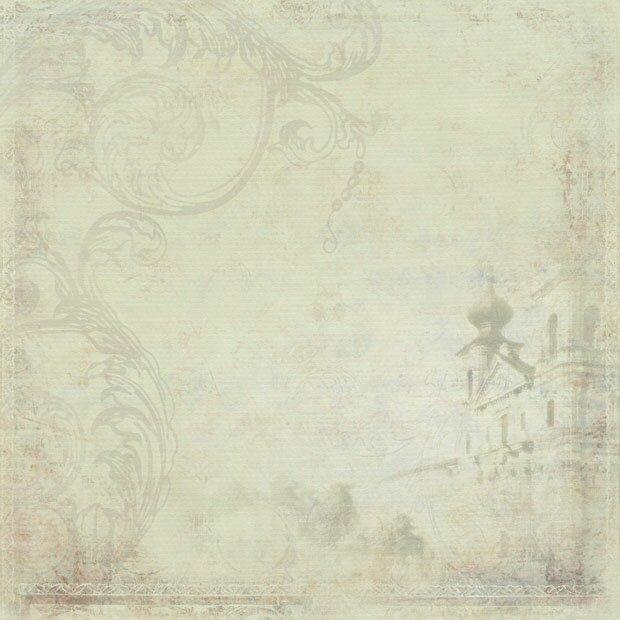 Старая церковь на полотне