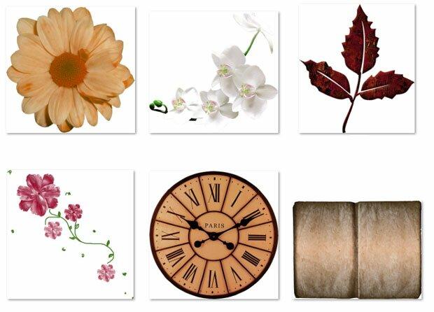 Часы и цветы