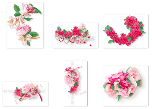 Браслет из роз