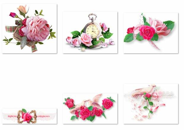 Часы и розы