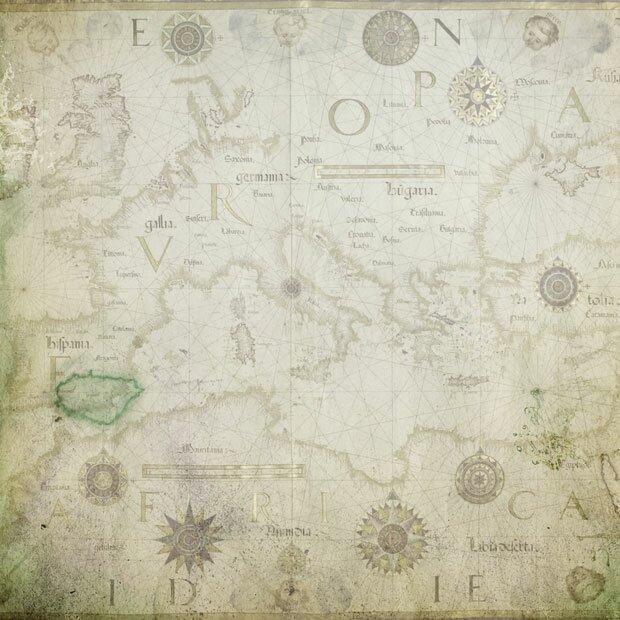 Морская карта Средиземноморья
