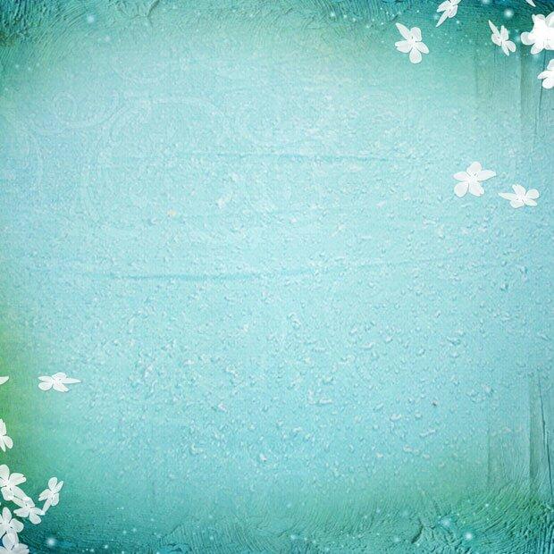Голубой фон с цветами