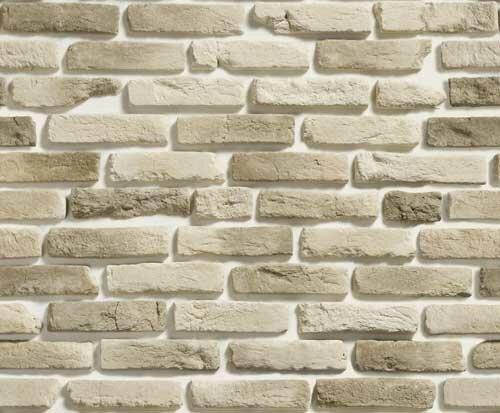 Стена из белого камня