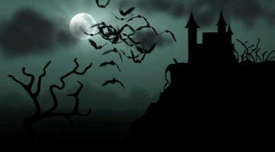 Замок и летучие мыши