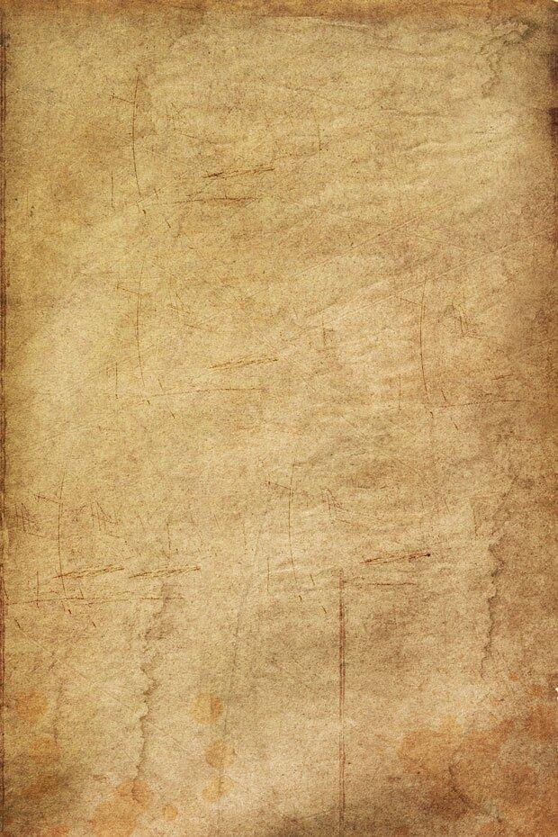 Пожелтевшая старая бумага