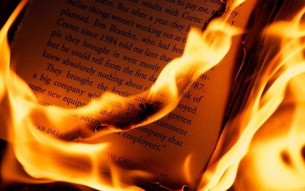 Книга горит