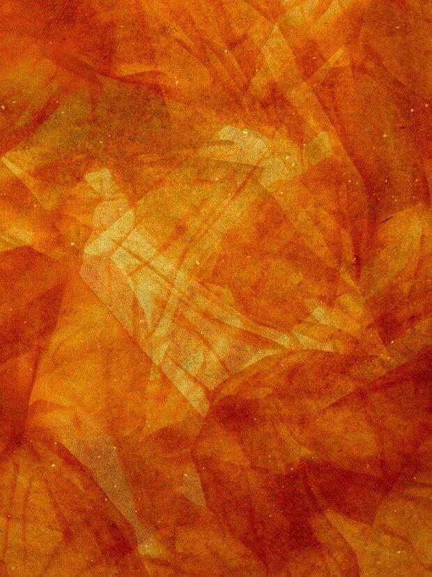 Оранжевый фон с цветами