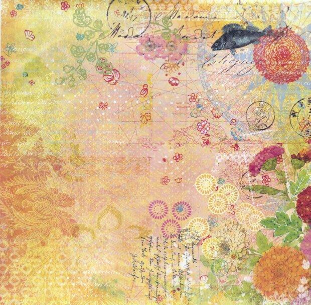 Цветы на старинном фоне