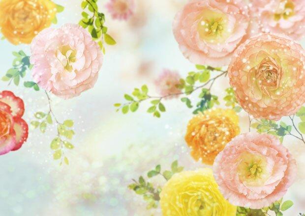 Фон цветочное ассорти 1