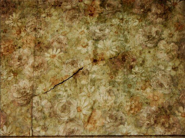 Старое цветочное полотно