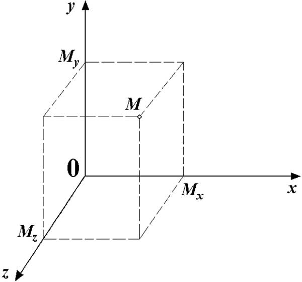 Vector projection coordinate system