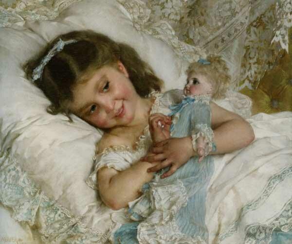 Муньер Девочка с куклой