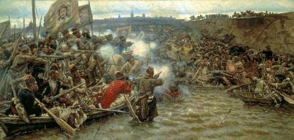 Суриков, картина покорение Сибири