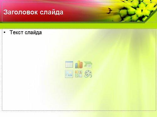 Шаблон презентации Цветок