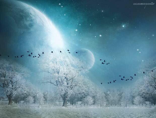 Фоны для презентаций - Лунный свет 3