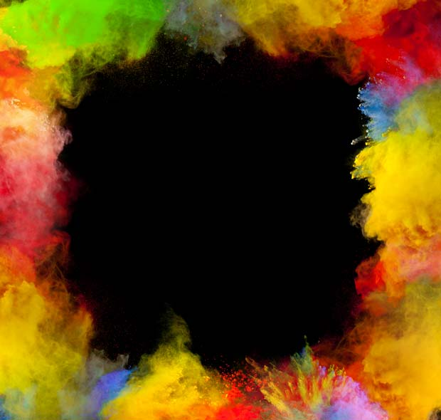 Фоны для презентаций - Цветные облака 7