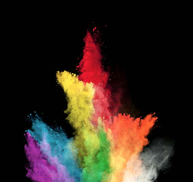 Фоны для презентаций - Цветные облака 9