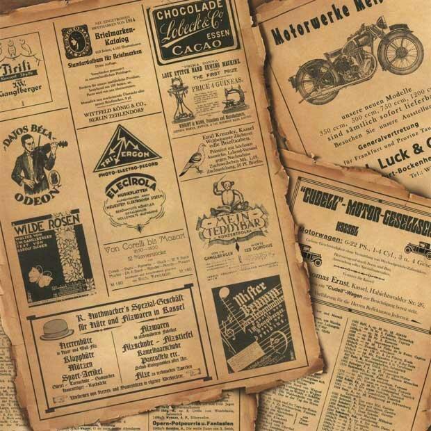Фоны для презентаций - Старые газеты 6