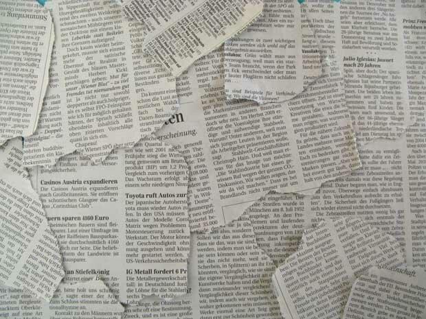 Фоны для презентаций - Старые газеты 11