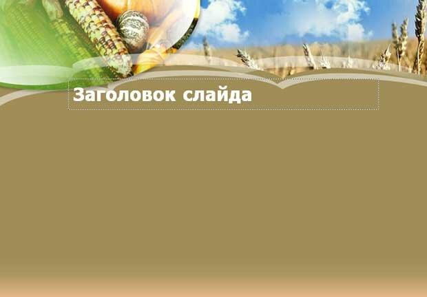 Шаблон презентации Урожай зерновых