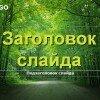 "Шаблон ""В зеленом лесу"""