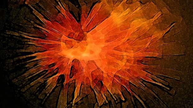 Огненная абстракция