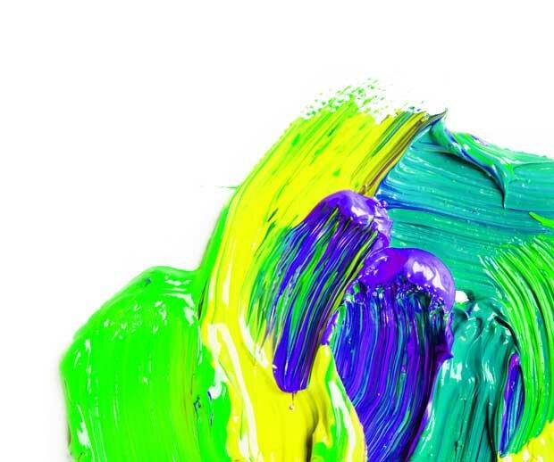 Зеленые тона акрила