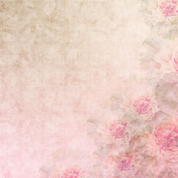 Розовый фон с цветами