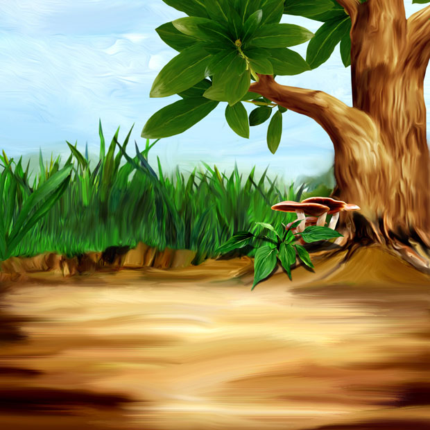 Фон дерево в лесу